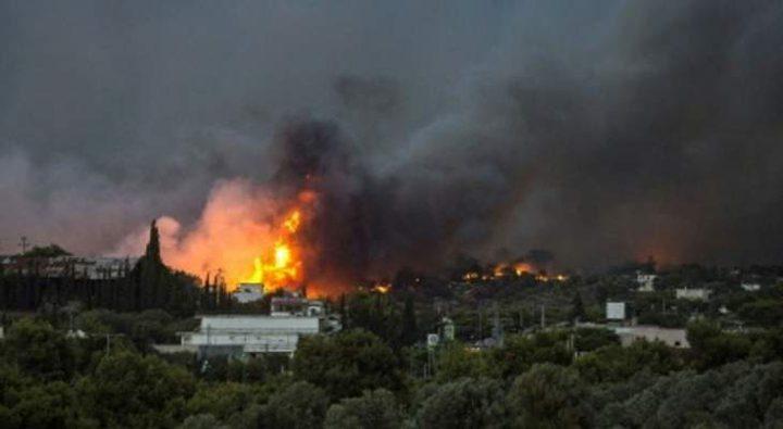 اليونان: حريق غابات يتسبب بإجلاء قريتين