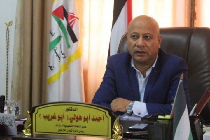 أبو هولي يطالب بتوفير الحماية الدولية للشعب الفلسطيني