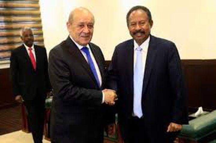"""وزير خارجية فرنسا يتعهد بدعم """"السودان"""""""