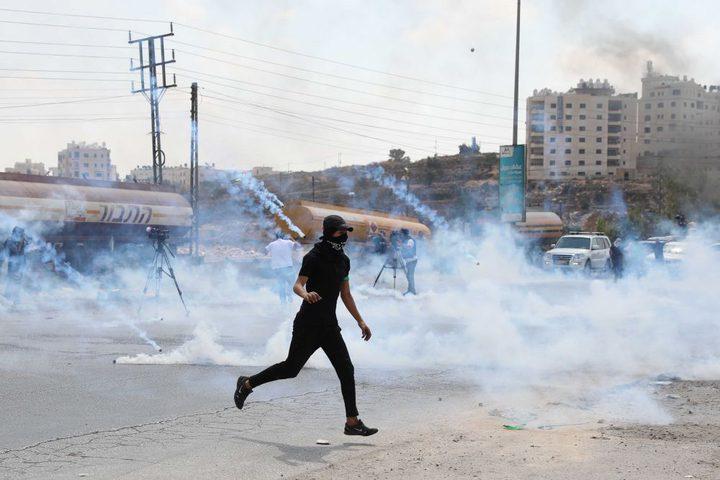 إصابات بمواجهات مع الاحتلال في رام الله والخليل