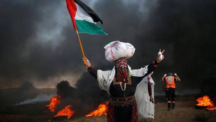 اصابات خلال مهاجمة الاحتلال لمسيرات العودة شرق غزة