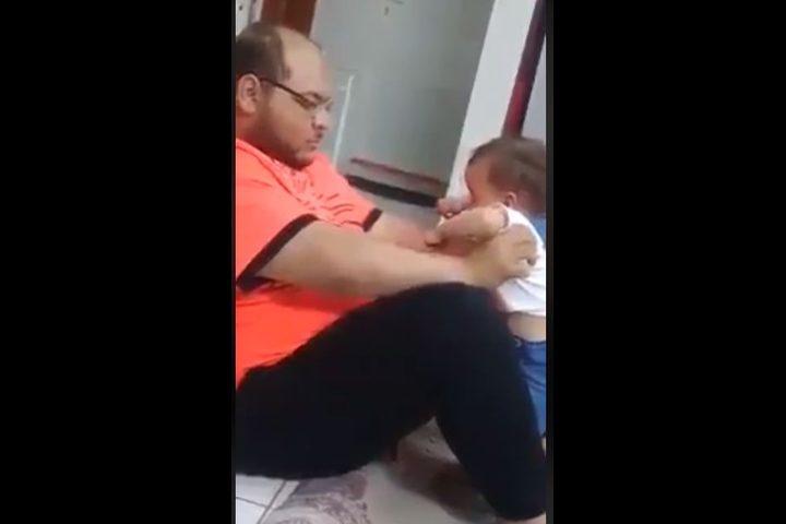 بعد انتشار الفيديو الأمن السعودي يقبض على رجل يعذب ابنته