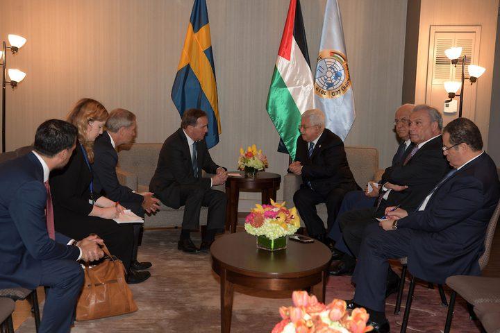 الرئيس يلتقي رئيس وزراء هولندا