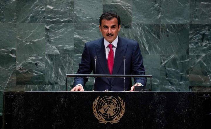 أمير قطر: سنواصل تقديم دعمنا السياسي والإنساني للشعب الفلسطيني