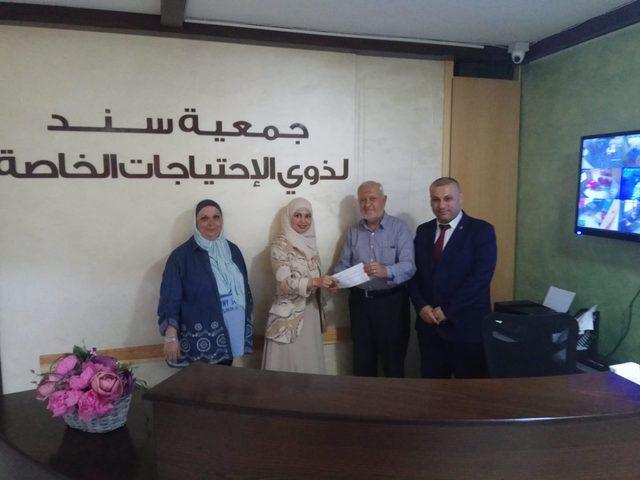 الإسلامي الفلسطيني يدعم جمعية سند لذوي الاحتياجات الخاصة