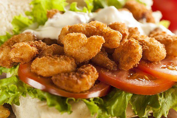 ساندوتش الجمبري المقلي