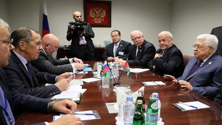 لقاء جمع الرئيس عباس و لافروففي نيويورك