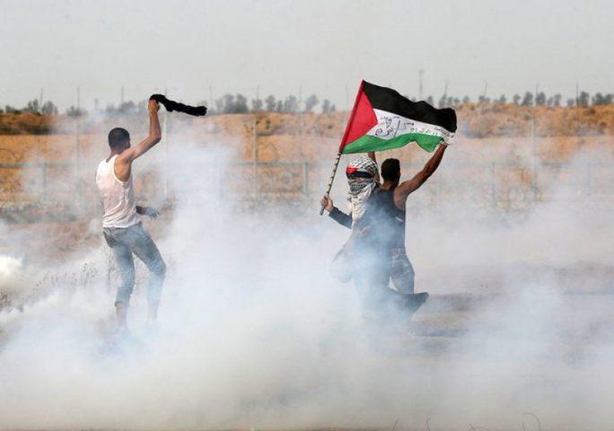 إصابات خلال مهاجمة الاحتلال للمسيرات السلمية شرق غزة