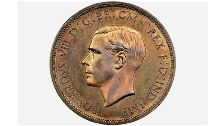 قطعة نقدية عليها صورة ملك تباع بسعر خيالي