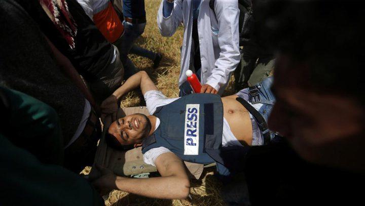 مركز حقوقي: قوات الاحتلال تتعمد استهداف الصحفيين الفلسطينيين