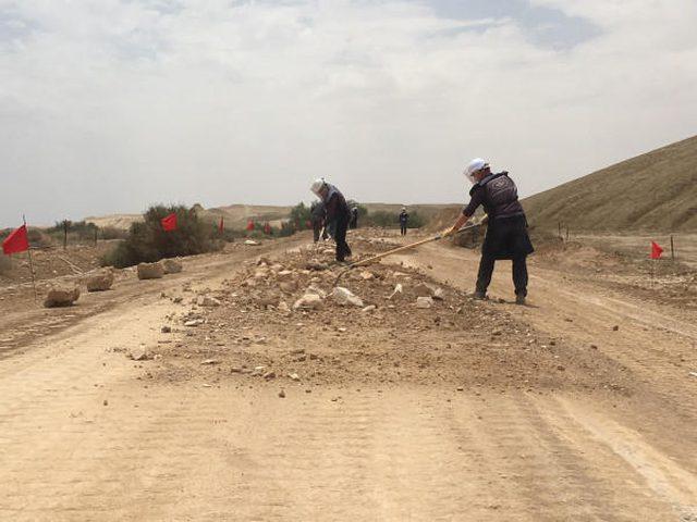الإنتهاء من إزالة الألغام بمنطقة المغطس