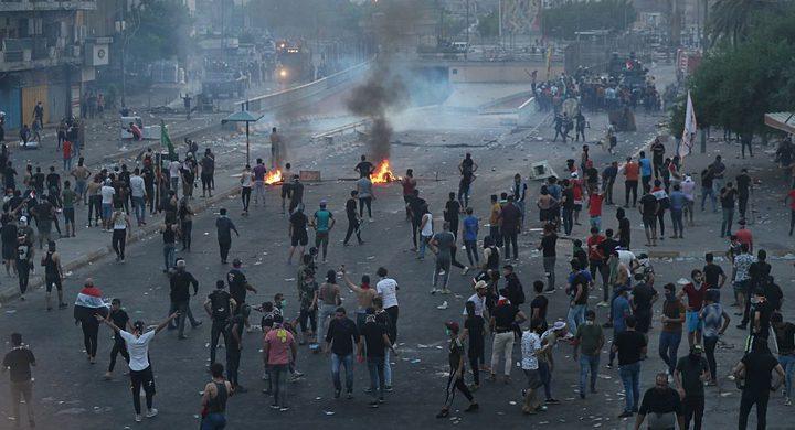 ارتفاع أعداد القتلى في مظاهرات العراق المستمرة لليوم الثالث