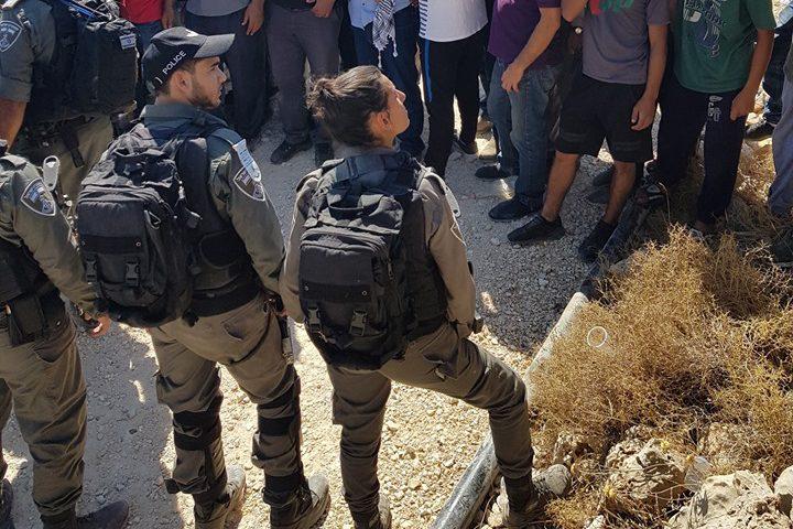 """نصبت قوات الاحتلال اليوم الجمعة، بوابة حديدية على مدخل منطقة """"لعيون"""" شمال شرق بلدة كفر ثلث، جنوب قلقيلية."""