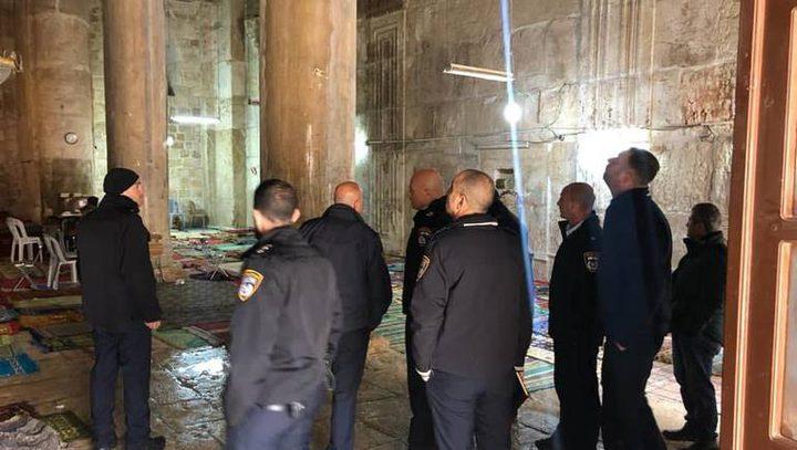قوات الاحتلال تقتحم مصلى باب الرحمة في الأقصى