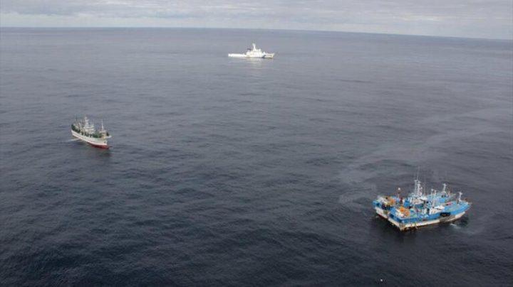 غرق سفينة كورية شمالية إثر حادث مع زورق ياباني