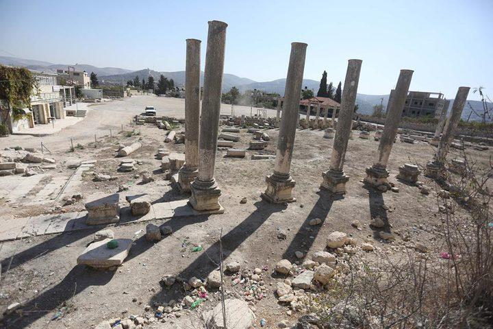 الاحتلال يتوعد بتجريف ساحة البيادر في سبسطية