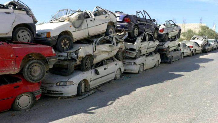 إتلاف مركبات غير قانونية في طولكرم