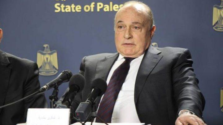 بشارة: نتطلع إلى تطوير وتبادل المعلومات مع مصر