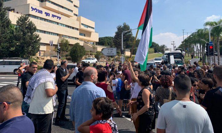 تظاهرة احتجاجية بالداخل المحتل تنديداً باستفحال الجريمة