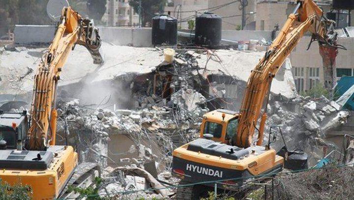 الاحتلال يهدم منزلاً للمرة الثانية في مدينة اللد