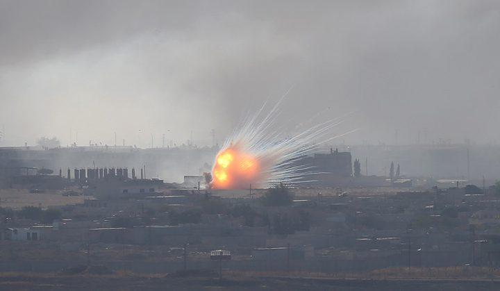 طائرات العدوان التركي تواصل قصفها في رأس العين