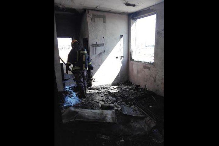 إصابة شاب بحريق شقة جنوب شرق جنين