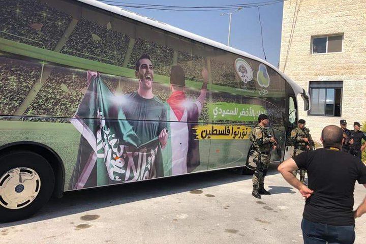 وصول بعثة المنتخب السعودي الأول،لخوض ثالث مباراة للأخضر في التصفيات مع الفدائي الفلسطيني