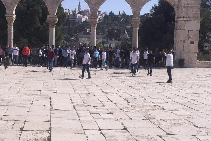 وصل وفد من إداريي المنتخب السعودي الأول لكرة القدس، المسجد الأقصى المبارك في القدس المحتلة صباح اليوم الاثنين.