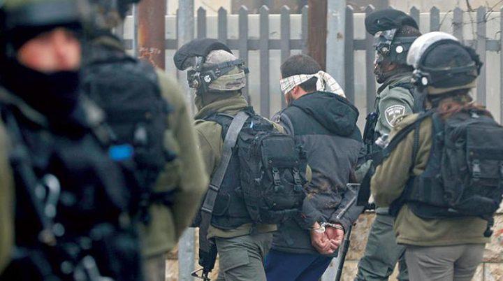 اعتقال  14 مواطنًا من الضفة