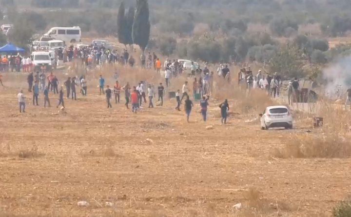 اصابات عقب قمع الاحتلال مسيرة سلمية شمال رام الله