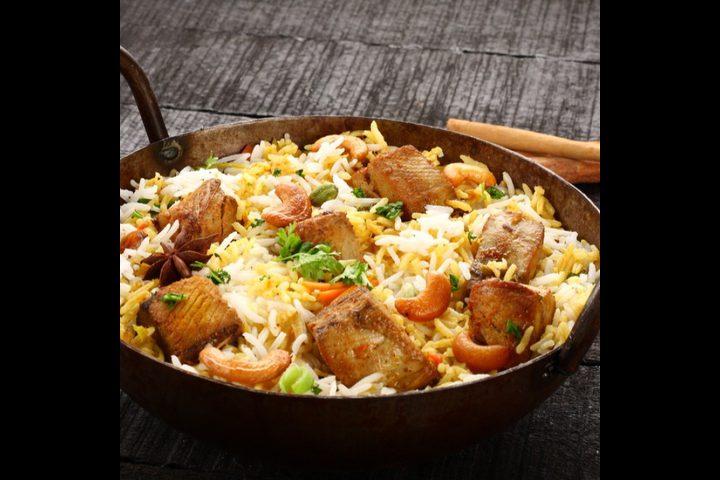 أرز برياني بسمك فيليه