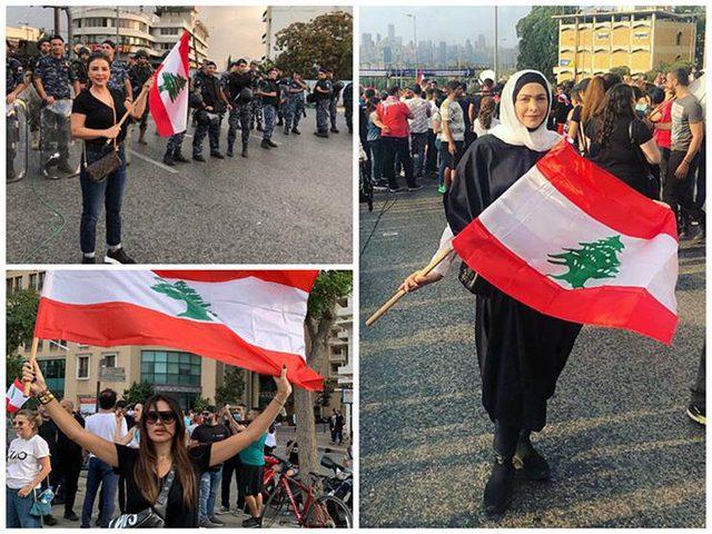 نجوم لبنان يشاركون في المظاهرات الشعبية