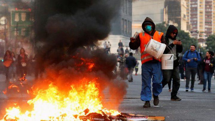 مصرع 5 أشخاص بحريق داخل مصنع في تشيلي