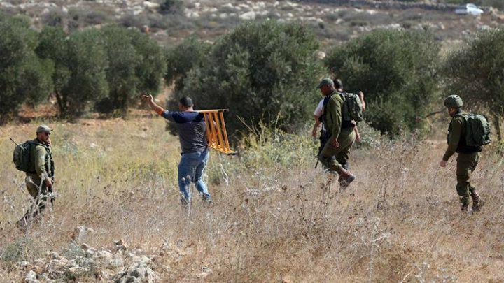 الاحتلال يواصل التضييق على المزارعين جنوب نابلس