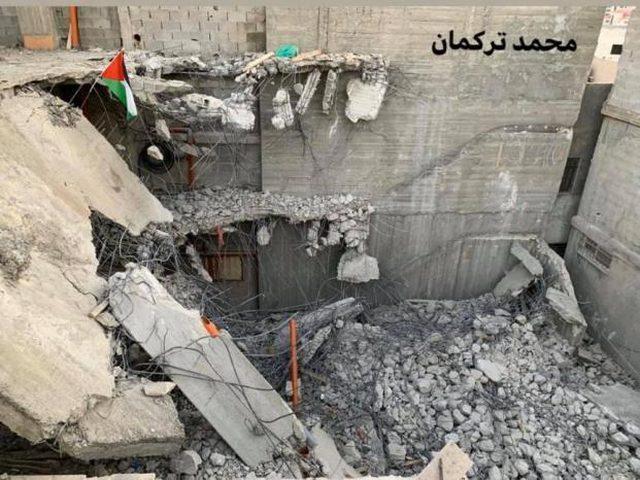 اصابات عقب هدم الاحتلال منزل عائلة أبو حميد بمخيم الأمعري