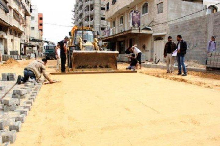صرف دفعات مالية لمشاريع البنية التحتية في غزة