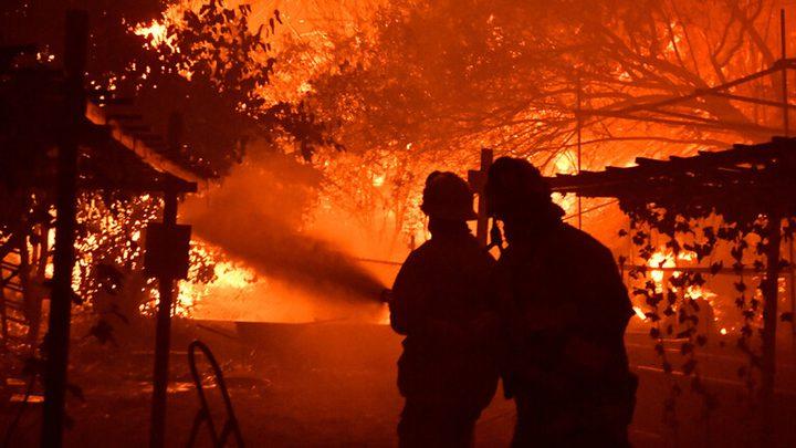 إجلاء آلاف المواطنين نتيجة حرائق كاليفورنيا