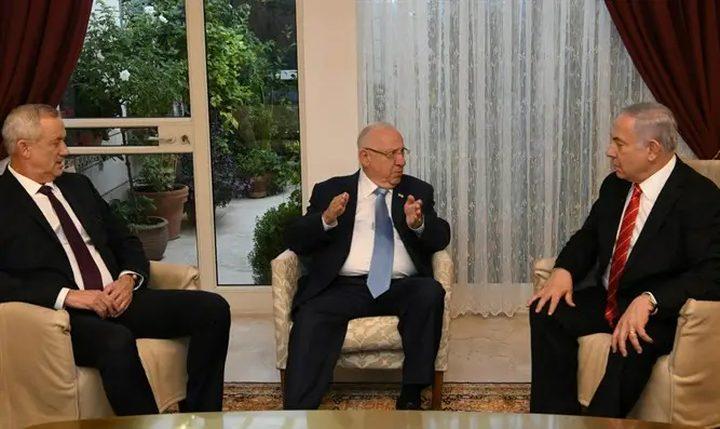 غانتس يجتمع مع نتنياهو اليوم لمناقشة خيارات تشكيل حكومة الاحتلال