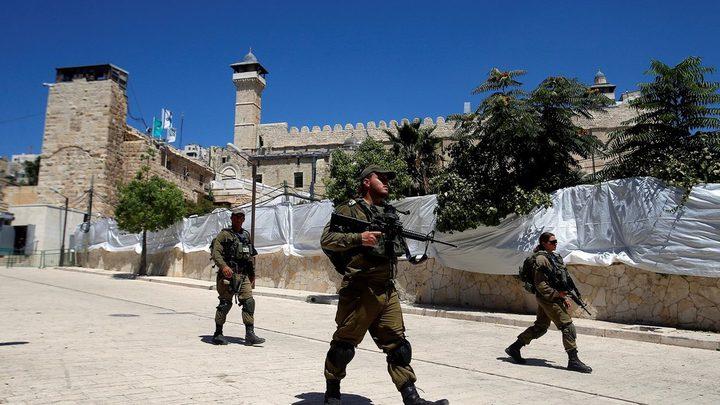 إصابة فتاة برصاص الاحتلال قرب الحرم الابراهيمي