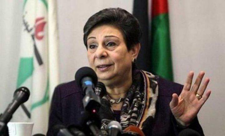عشراوي تدين حملة المداهمات الإسرائيلية المتصاعدة