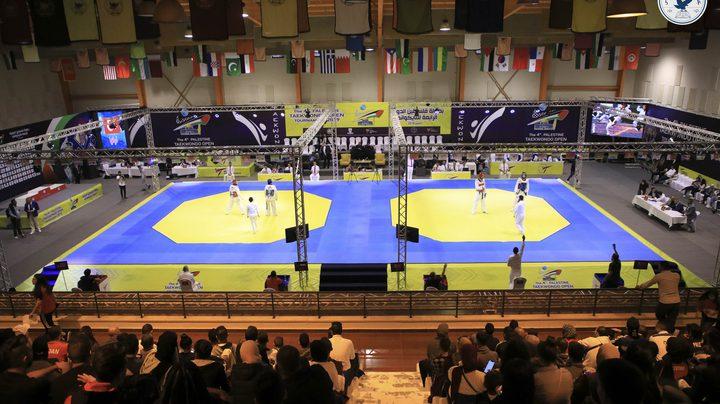 إنطلاق بطولة فلسطين الدولية الرابعة للتايكوندو في جامعة النجاح