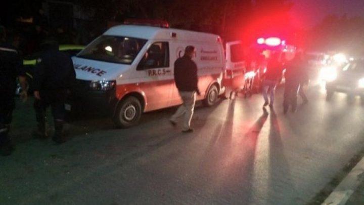 7 إصابات في حادث سير على مفترق بلدة تقوع