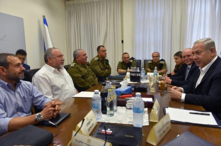 الكابينيت يجتمع لمناقشة التصعيد الاخير على قطاع غزة