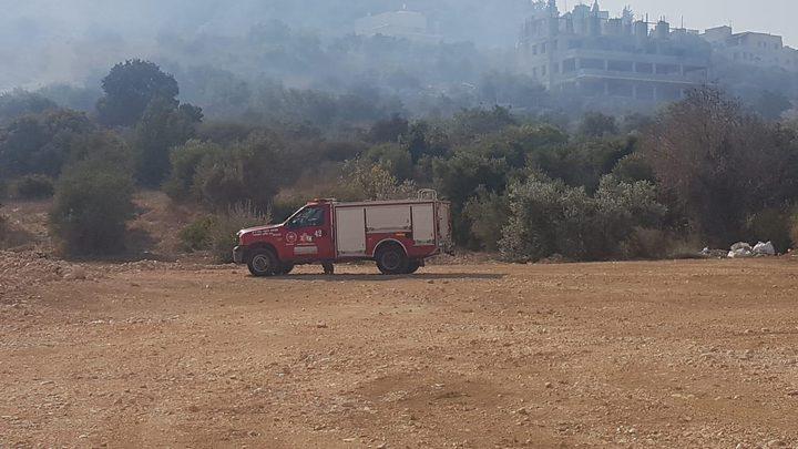 حريق هائل في واد ملحم وواد الحرامية