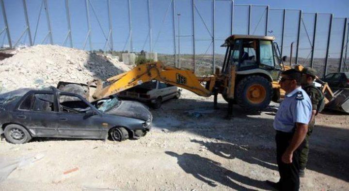 اتلاف 70مركبة غير قانونية وتوقيف8 مطلوبين للعدالة في ضواحي القدس