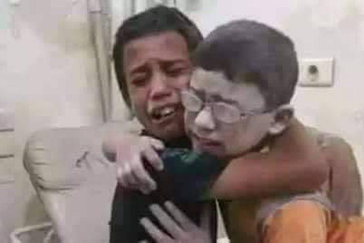 الأخوان السوريان حمزة وقيس هذا الطفل ظنَّ أنَّ أخاه قد مات ثمَّ وجده وكان هذا اللقاء