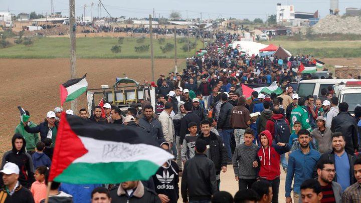 إصابات بالرصاص والاختناق جراء قمع الاحتلال لمسيرات العودة شرق غزة