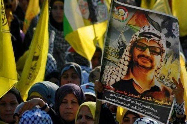 فتح تؤكد تمسكها بنهج قائدها الرئيس الراحل ياسر عرفات