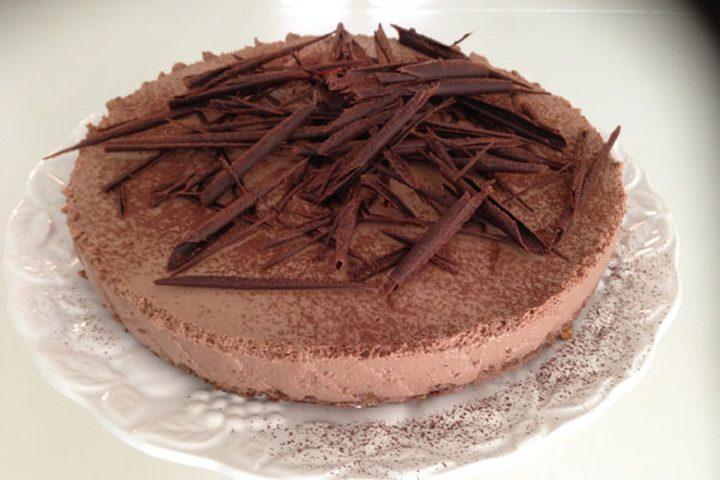 كعكة اللوز والريكوتا بالشوكولاته