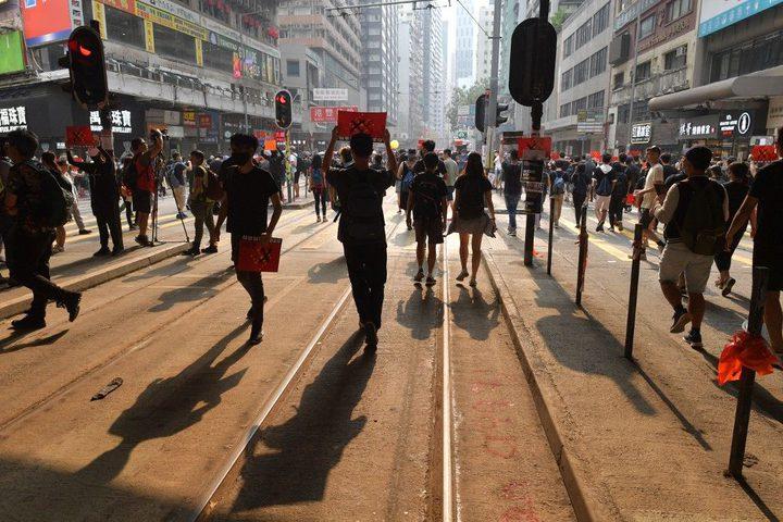 لليوم الرابع على التوالي.. استمرار المظاهرات في هونغ كونغ